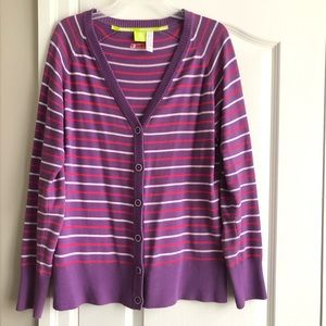 Adidas Cardigan/Sweater (Purple and Pink)
